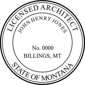 Montana Architect Stamp and Seal - Prostamps