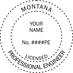 Montana Engineer Stamp and Seal - Prostamps