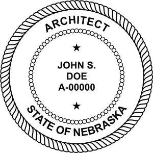 Nebraska Architect Stamp and Seal - Prostamps