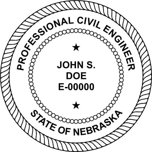 Nebraska Engineer Stamp and Seal - Prostamps