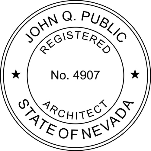 Nevada Architect Stamp and Seal - Prostamps