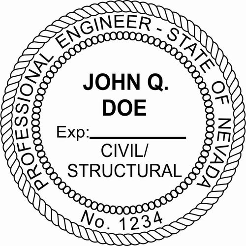 Nevada Engineer Stamp and Seal - Prostamps