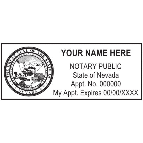 Nevada Notary Stamp and Seal