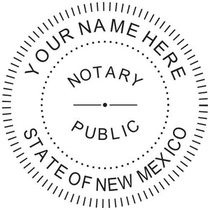 New Mexico Notary Stamp and Seal