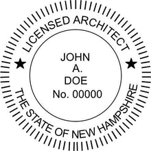 New Hampshire Architect Stamp and Seal - Prostamps