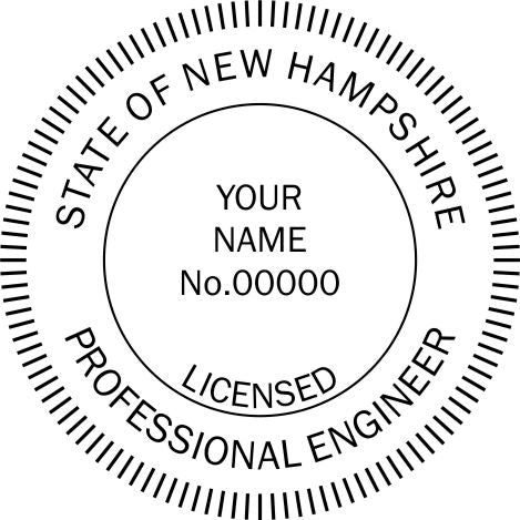 New Hampshire Engineer Stamp and Seal - Prostamps