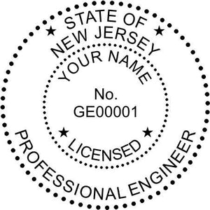 New Jersey Engineer Stamp and Seal - Prostamps
