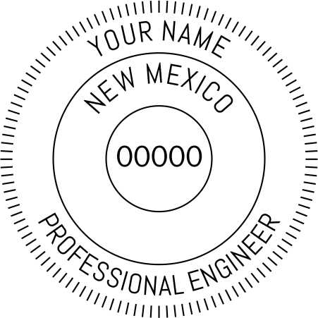 New Mexico Engineer Stamp and Seal - Prostamps