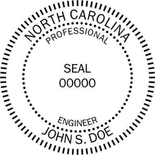 North Carolina Engineer Stamp and Seal - Prostamps