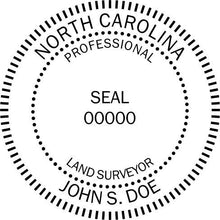 North Carolina Land Surveyor Stamp and Seal - Prostamps