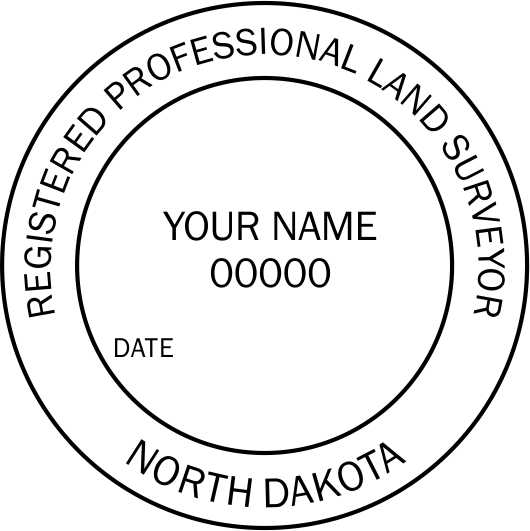 North Dakota Land Surveyor - Prostamps