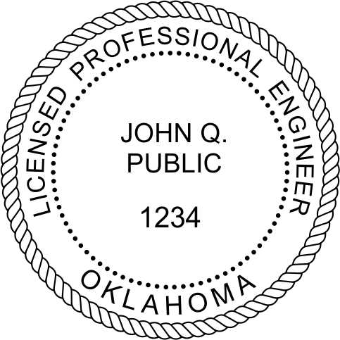 engineer seals with license number to meet requirements for a pre-inked PE stamp
