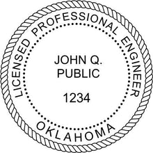 Oklahoma Engineer Stamp and Seal - Prostamps