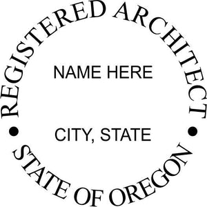 Oregon Architect Stamp and Seal - Prostamps