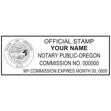Oregon Notary Stamp and Seal - Prostamps