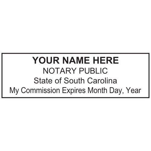 South Carolina Notary Stamp and Seal - Prostamps
