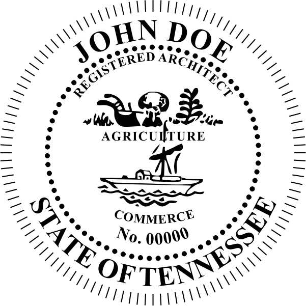 Tennessee Architect Stamp and Seal - Prostamps