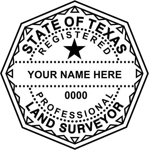 Texas Land Surveyor Stamp and Seal - Prostamps