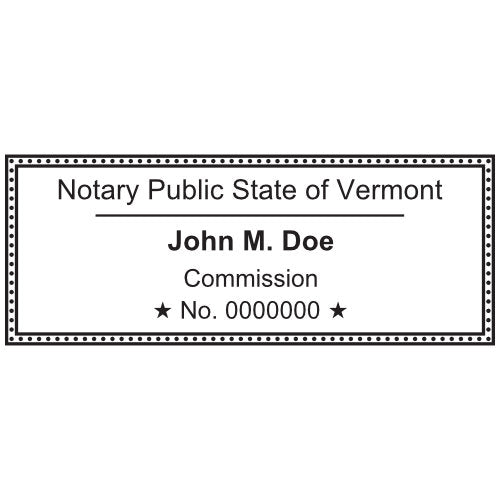 Vermont Notary Stamp and Seal - Prostamps