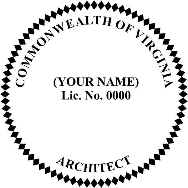 Virginia Architect - Prostamps