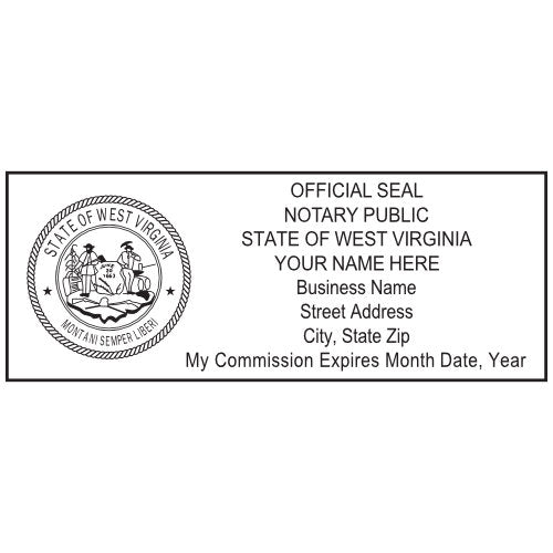 West Virginia Notary Stamp and Seal