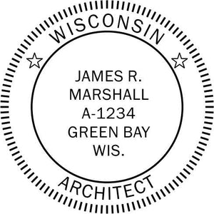Wisconsin Architect Stamp and Seal - Prostamps