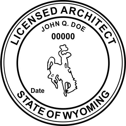 Wyoming Architect - Prostamps