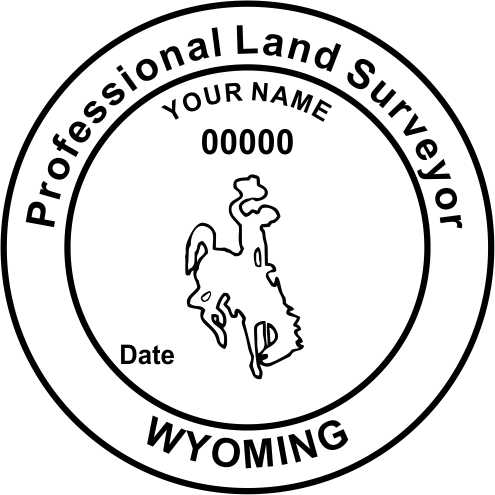 Wyoming Land Surveyor - Prostamps