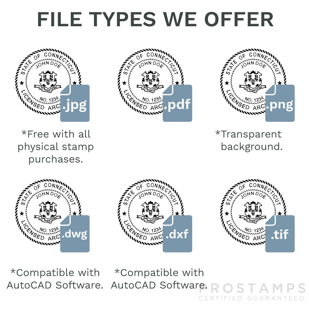 architect seal stamps in digital format