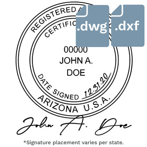 Digital Stamp with Signature Files - .DWG and .DXF - Prostamps