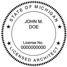 Michigan Architect Stamp and Seal