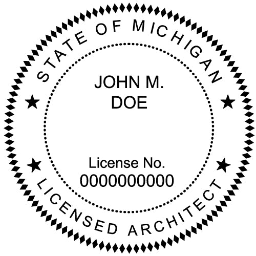 Michigan Architect Stamp and Seal - Prostamps