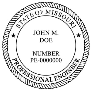 Missouri Engineer Stamp and Seal