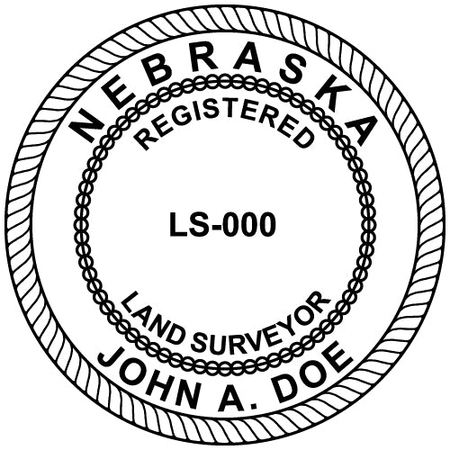 Nebraska Land Surveyor Stamp and Seal - Prostamps