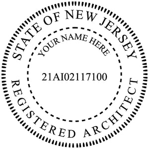 New Jersey Architect Stamp and Seal - Prostamps