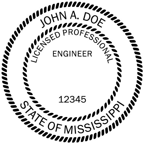 Mississippi Engineer Stamp and Seal - Prostamps