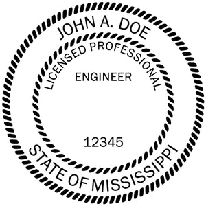 Mississippi Engineer Stamp and Seal
