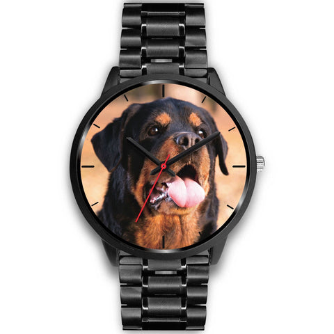 Black Rottweiler Watch with Metal Band-Black Watch-Rottweilers Shop