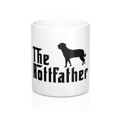 The Rottfather White Mug 11oz-Mug-Rottweilers Shop