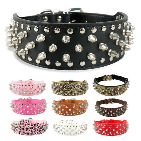 Dog Collar With Spikes-Rottweilers Shop
