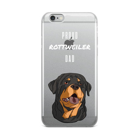 Proud Rottweiler Dad iPhone Case-Phone Case-Rottweilers Shop
