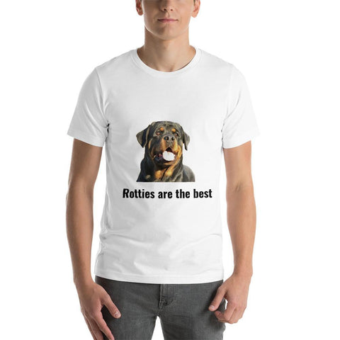 Rotties are the best - Short-Sleeve Unisex T-Shirt-Rottweilers Shop