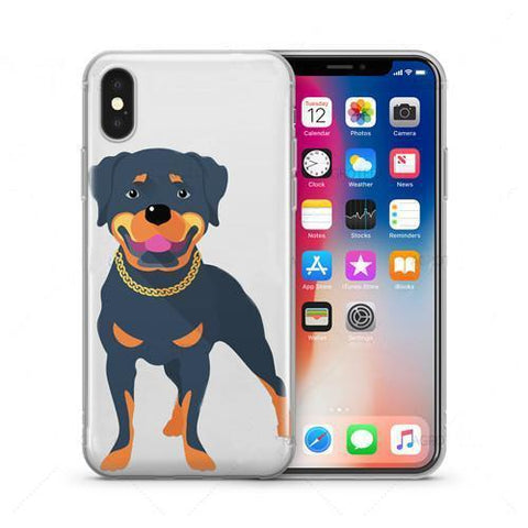 Rottweiler Clear TPU Phone Case Cover for iPhone - Rottweilers Shop