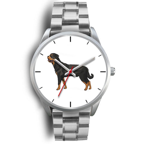 Silver Rottweiler Watch with Metal Band-Silver Watch-Rottweilers Shop