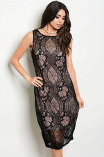 BLACK NUDE DRESS D460529