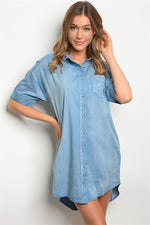 BLUE DENIM DRESS D42137