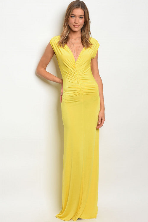YELLOW DRESS D0074