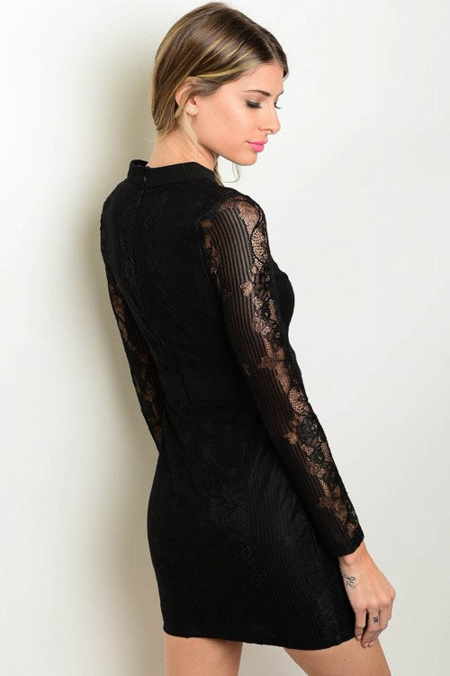 BLACK LACE DRESS DXA100361