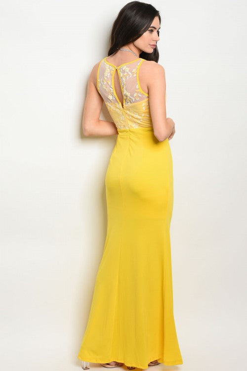 YELLOW DRESS D02928