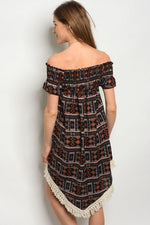 BLACK RUST DRESS